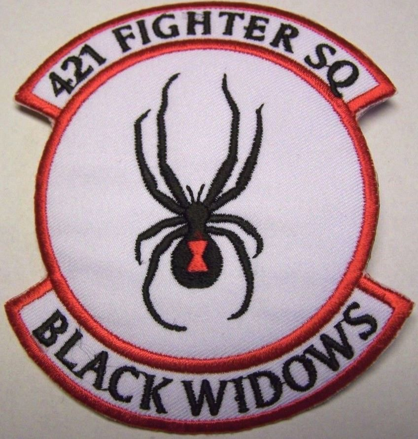 US Air Force 421st Fighter Squadron Patch (Black Widows)
