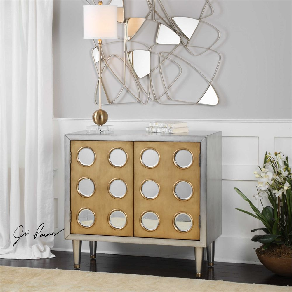 Uttermost Bea Antiqued Silver Accent Cabinet | G r e y + G o l d ...