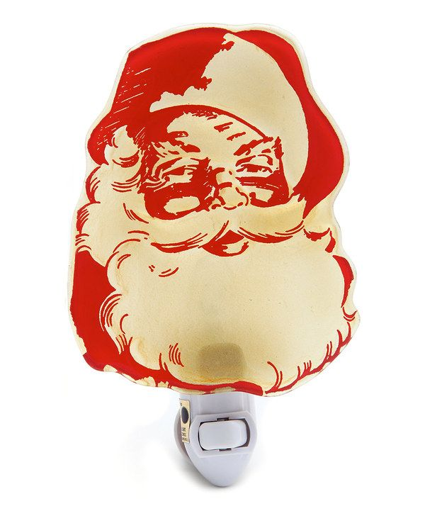 Another great find on #zulily! Santa Glass Night-Light by Evergreen #zulilyfinds