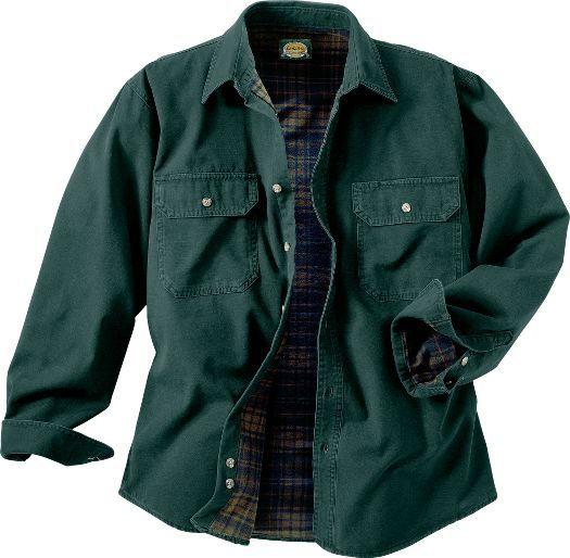 Cabela's: Cabela's Flannel-Lined Stonewash Canvas Shirt - Tall 2XL