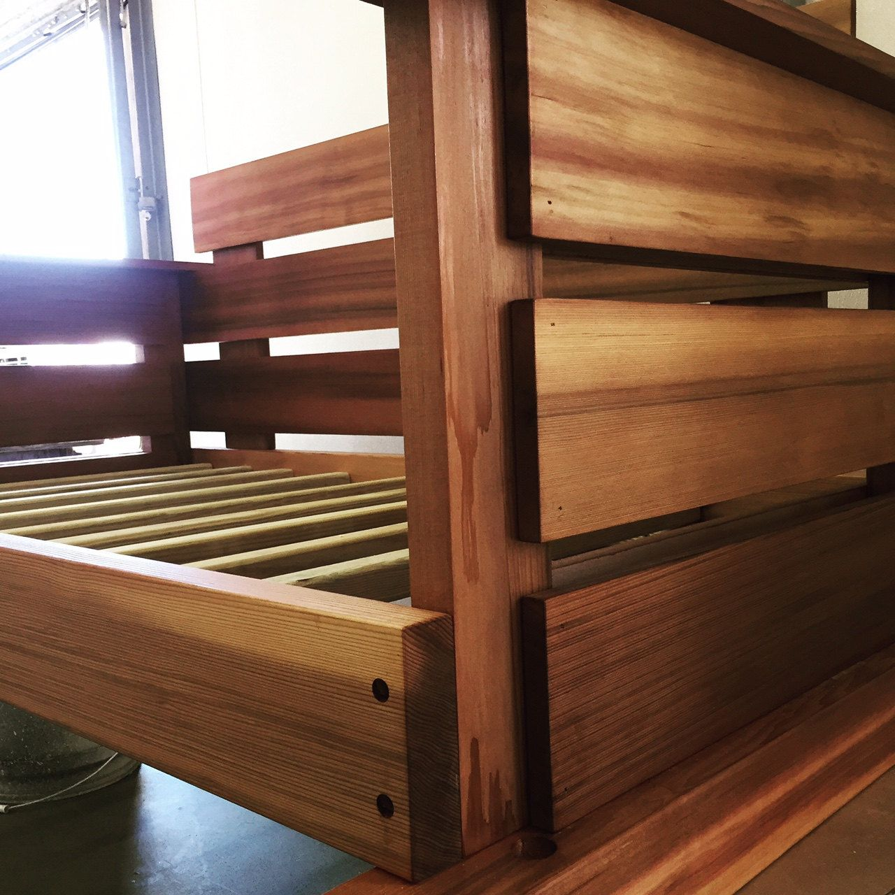 Our Swing Beds come standard in a crib, twin, full, queen