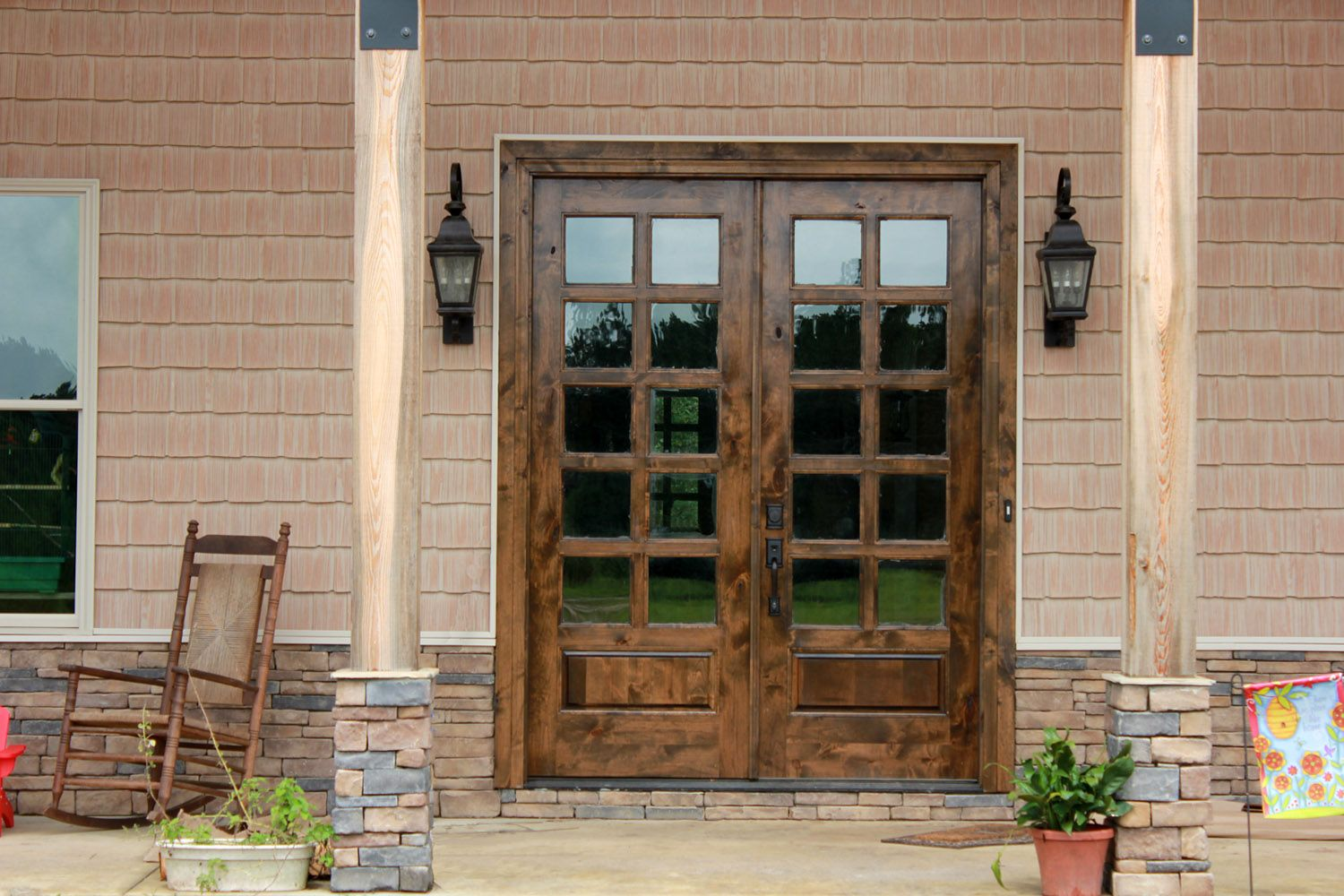 door solid front exterior with decor doors sidelights for double mahogany