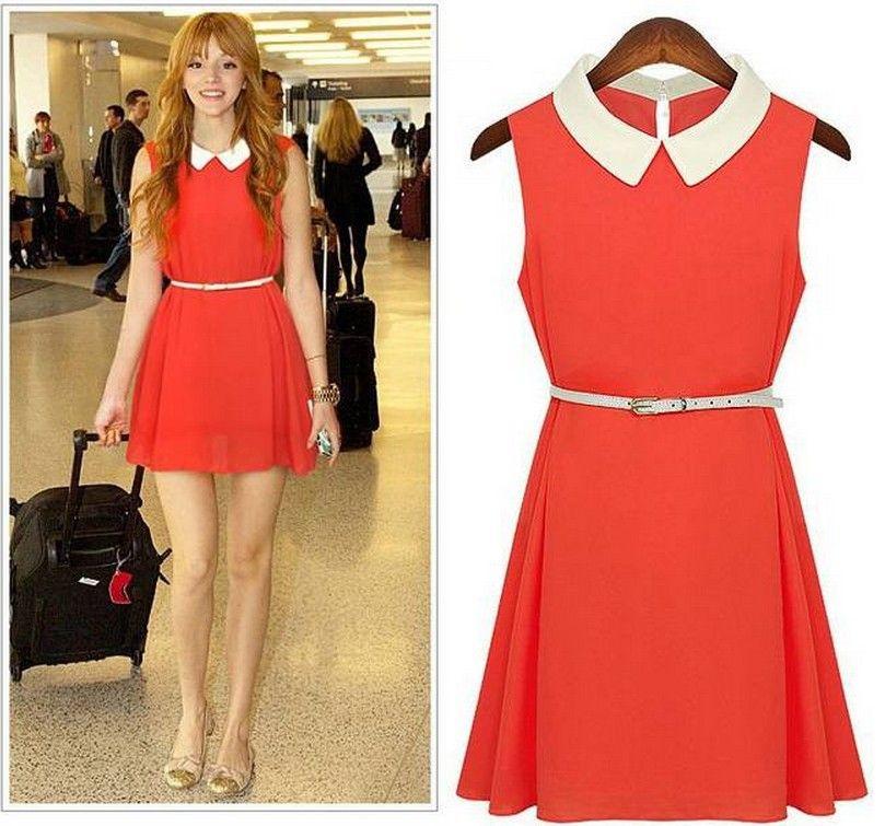 Vestidos rojos casuales de moda