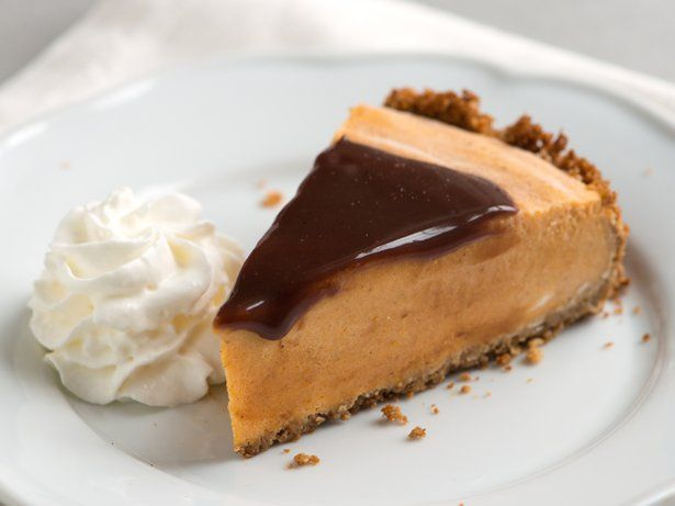 Bloggers Adam and Joanne Gallagher from Inspired Taste turn the traditional pumpkin pie on its head and make it into an ice cream pie with a tequila chocolate topping.