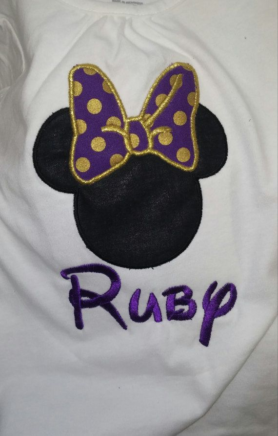 Minnie Mouse applique shirt by DinglehoppersDesigns on Etsy, $14.00