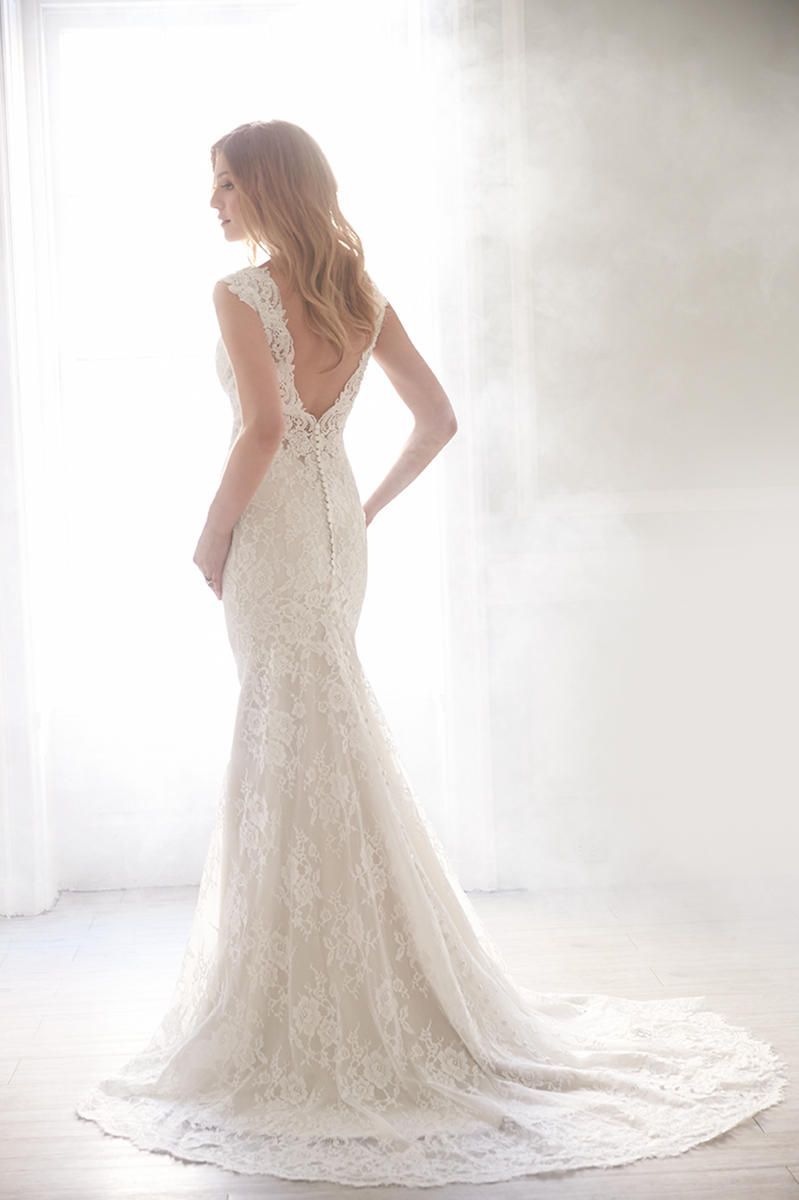 Madison james by allure wedding gown lace wedding dress with low
