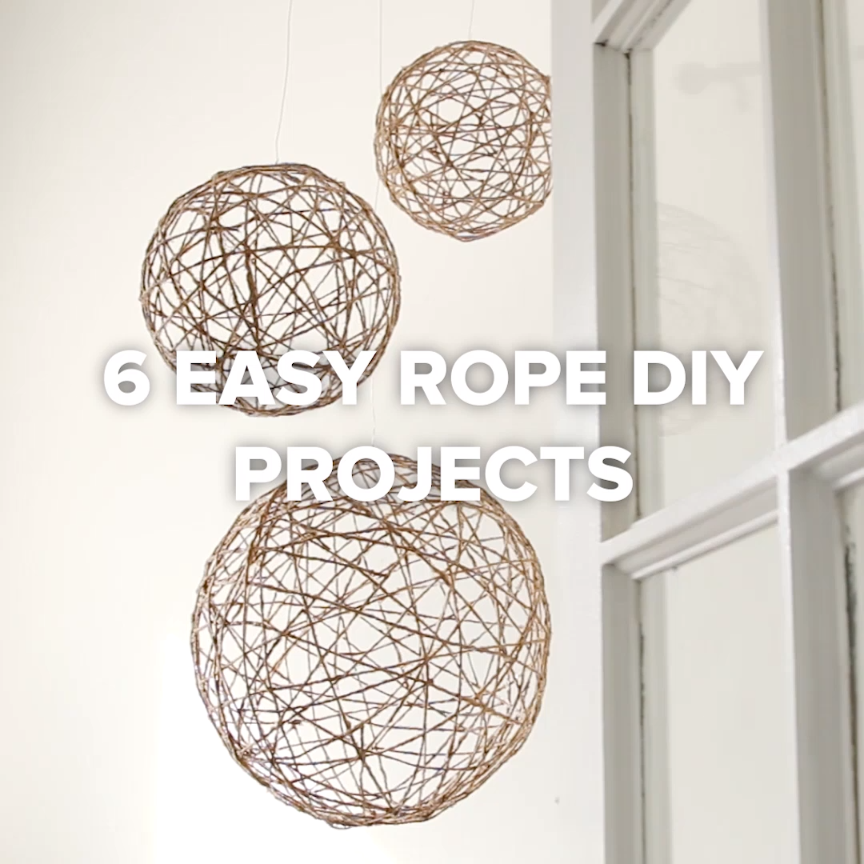 6 Easy Rope DIY Projects // #diy #rope #decor #homedecor #projects ...