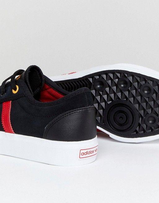 Adidas Planche À Roulettes Formateurs Adi-ease Langue Logo - Noir MaYd1cYO