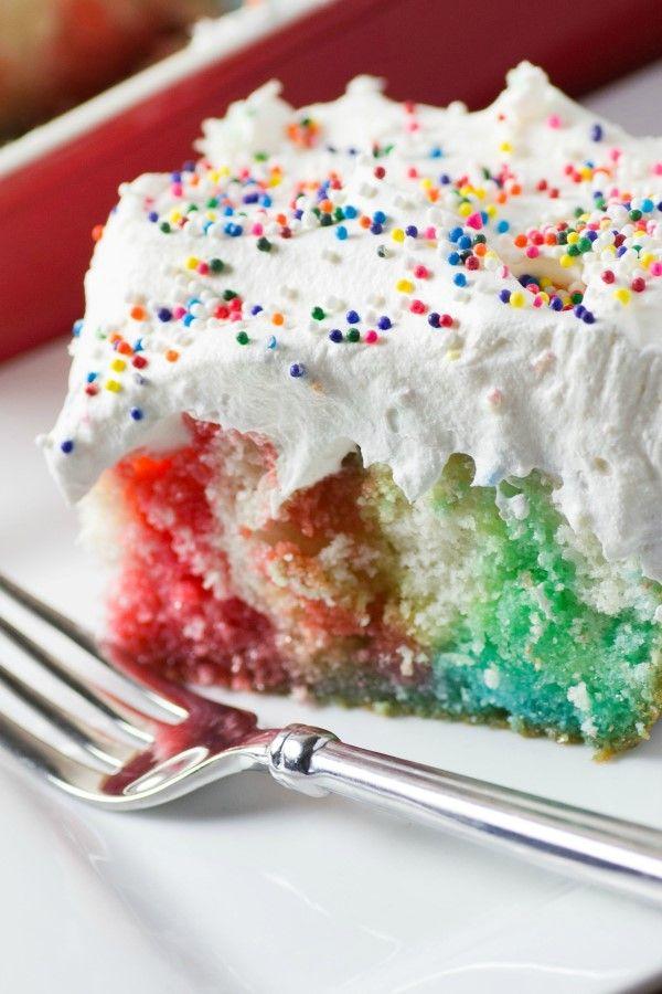 Rainbow Birthday Poke Cake Sweet Treats Pinterest Rainbow