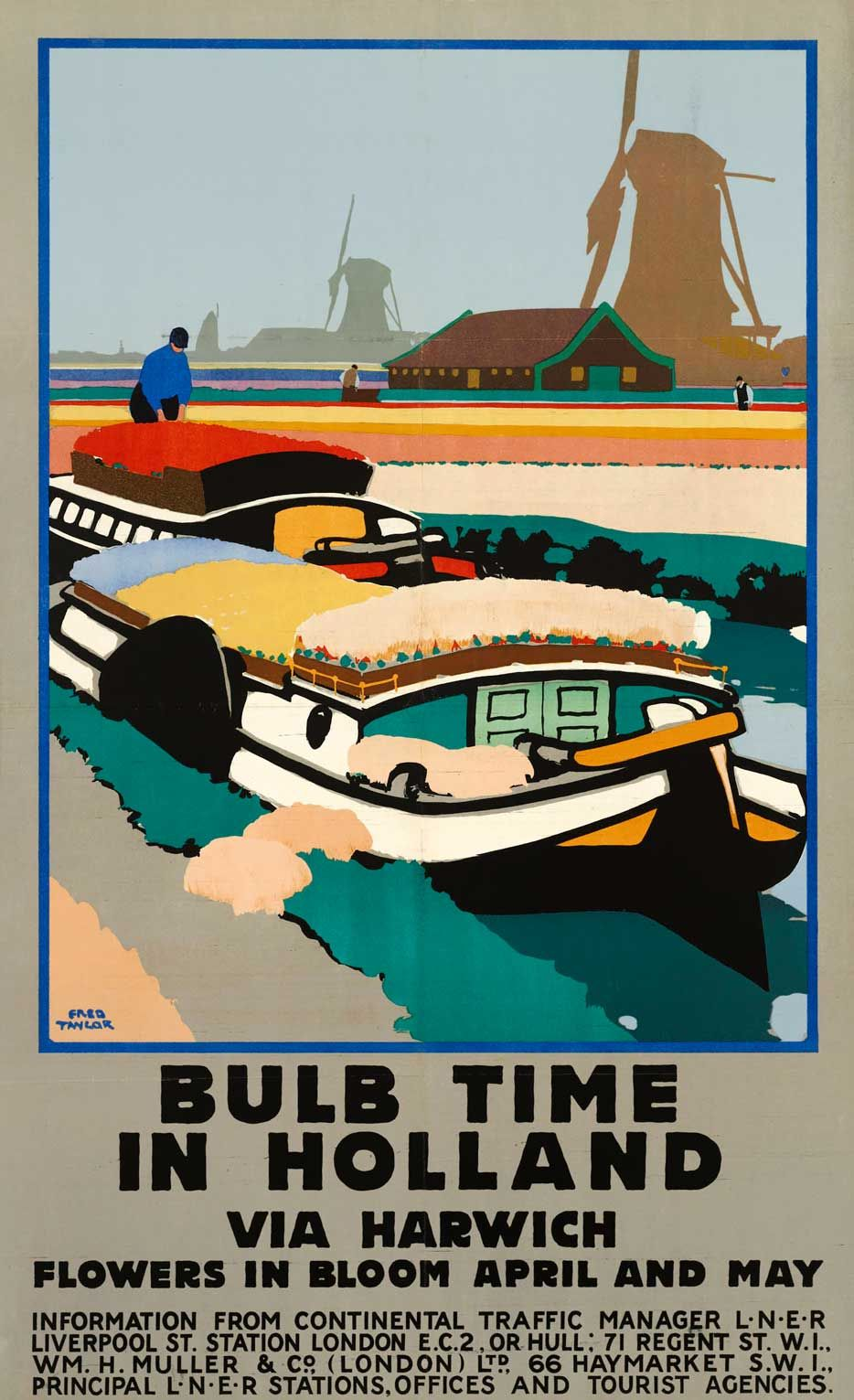 Bulb Time in Holland, LNER, 1929, by Fred Taylor in 2020