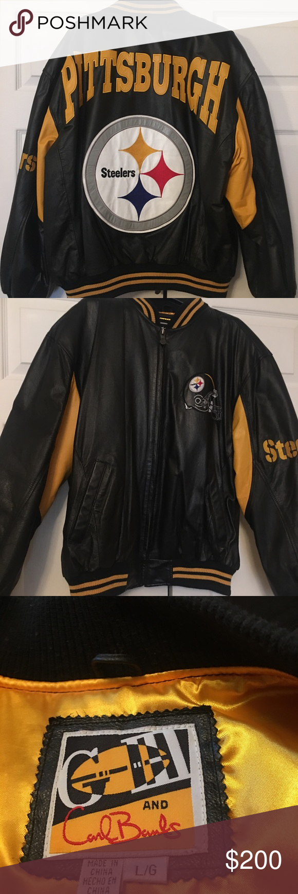 Vintage Pittsburgh Steelers Leather Jacket Jackets