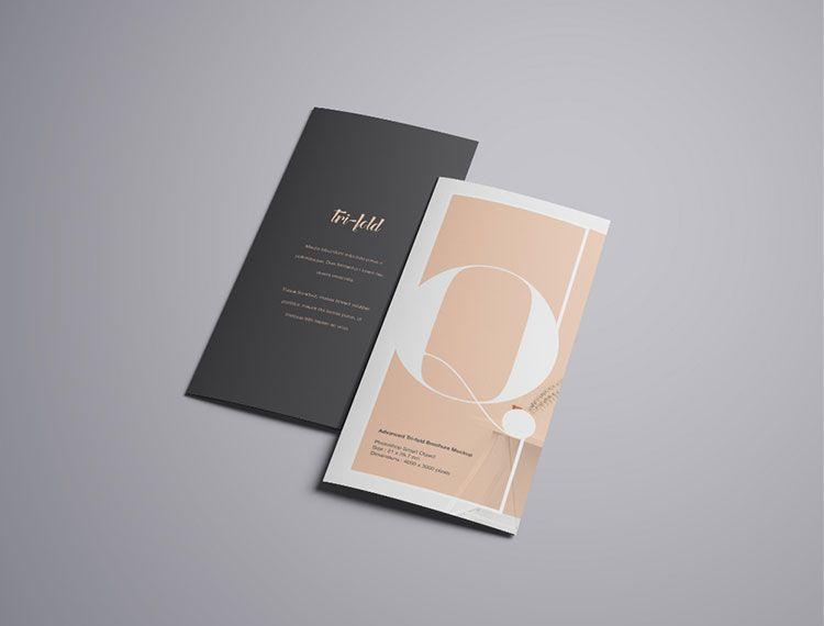 a4 trifold brochure mockup mockups psd templates for designers