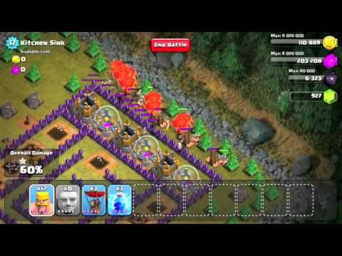 Clash Of Clans Single Player Level 46 Kitchen Sink Clashofclans Clash Of Clans Clan Single Player