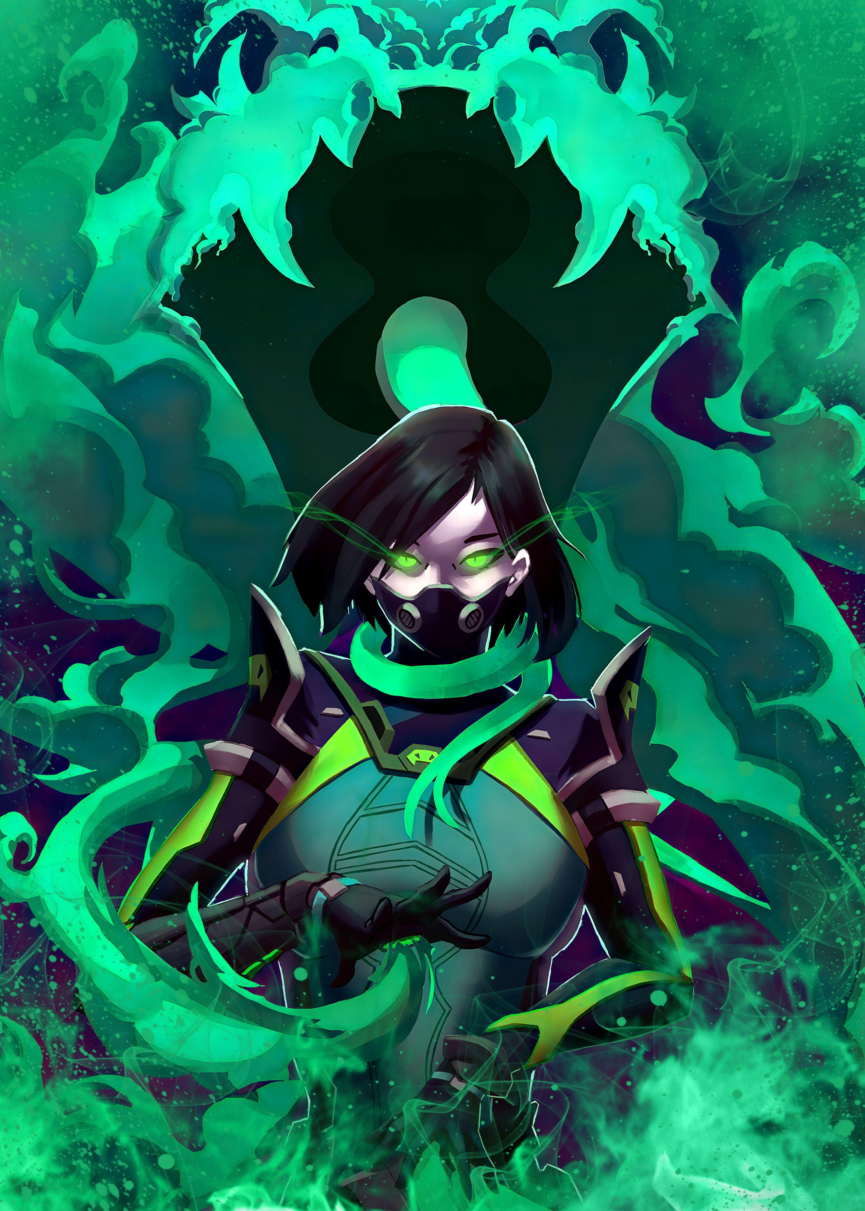 39 Viper Valorant Metal Poster Character Art Fantasy Character Design Anime Art Girl Viper valorant 4k fan art wallpaper