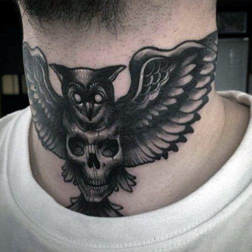 220 Tatuajes En El Cuello Fotos Y Disenos Increibles Tatuajes Cuello Tatuaje Del Cuello Mejor Tatuaje
