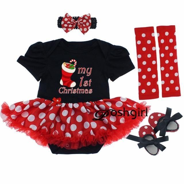 37c22d7e2 Baby Girl Christmas Dress Set   baby   Baby girl christmas dresses ...