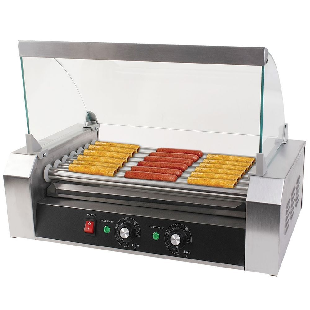 Uncategorized Kitchen Appliance Rollers new commercial 18 hot dog hotdog 7 roller grill cooker machine w cover