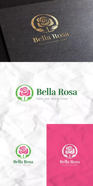 Bella Rosa Logo Template by empativo on Logo templates