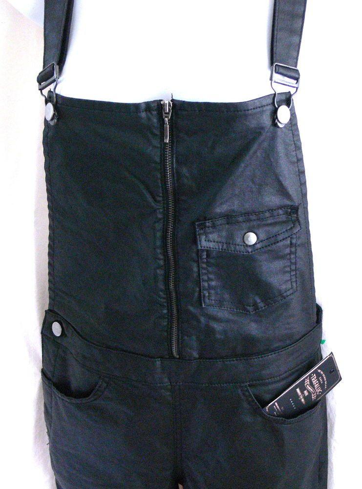 26daea6bf99 ZARA Trafaluc Black Denim Dungarees Overall Skinny Pants Sz M Cotton Bib  Pants  ZARA  Jumpsuit
