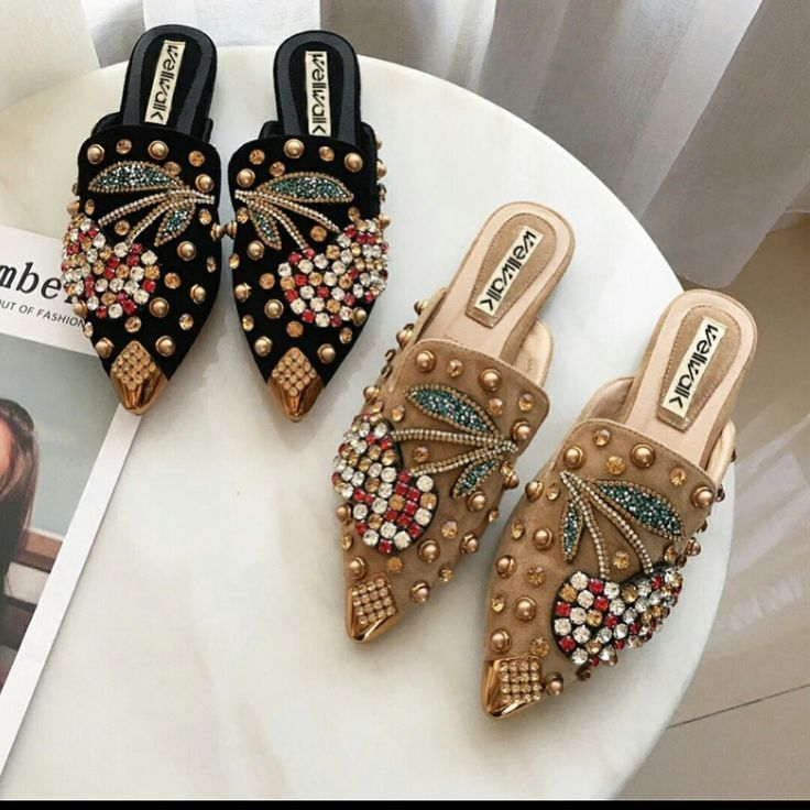 bejeweled flats - These boots are made for walking. Or caressing. Women's shoes, sneakers, heels, boots, flats, wedges, sandals, pumps, tennis shoes, running, stylish, comfortable, causal, cute, nike, adidas, converse, vans #adidasclothes