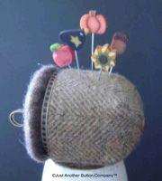 acorn pin cushion made of wool