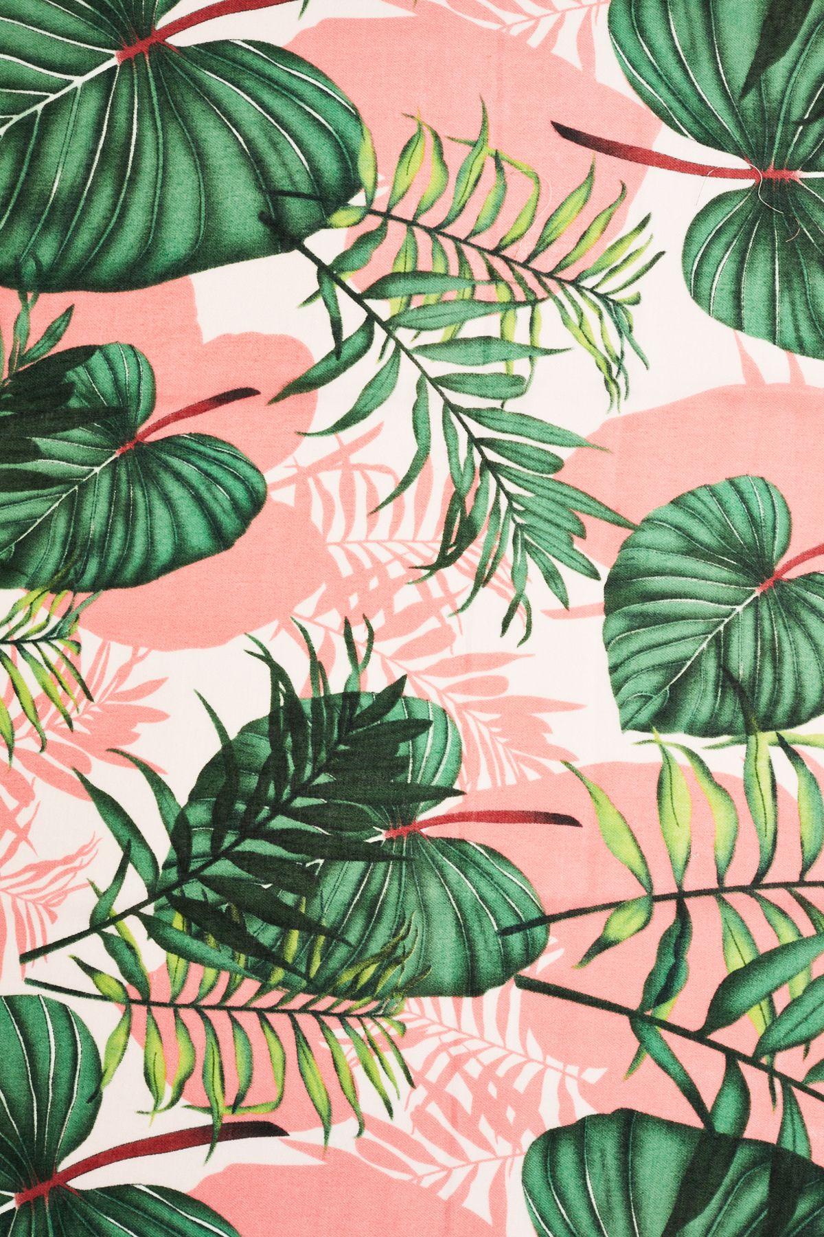 Palm Print Scarf Tropical Wallpaper Leaf Wallpaper Summer Wallpaper