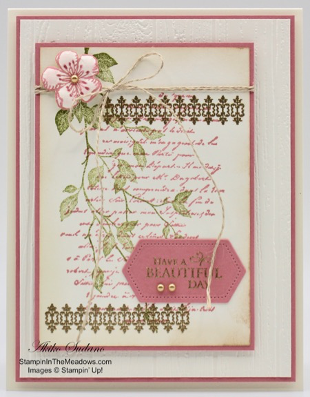 Stampin' Up! Very Versailles Beautiful Day Card