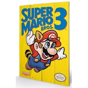 Panneau en Bois Super Mario Bros 3