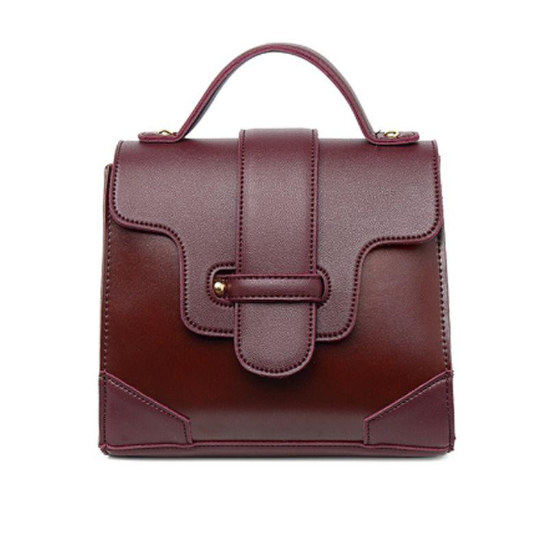 441a60a52770 Women Handbag Designer Flap Shoulder Bags Black Burgundy Belt ...