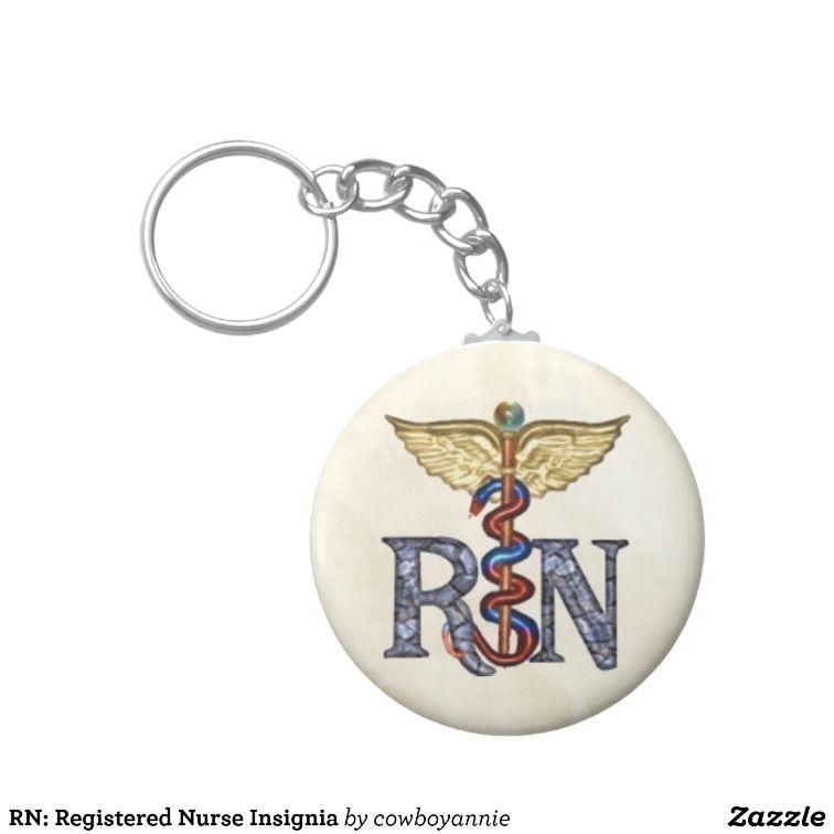 Rn registered nurse insignia keychains registered nurse