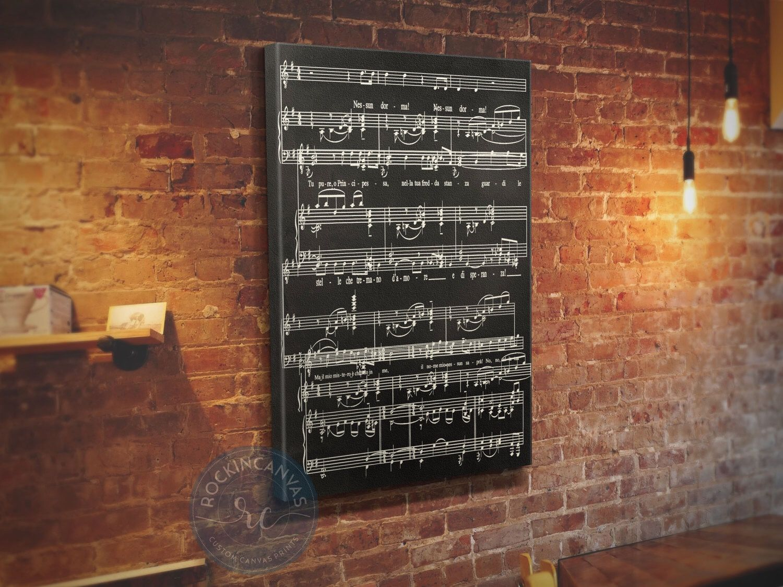 Sheet Music Wall Art Notes Framed Wedding Song Anniversary Cotton Gift