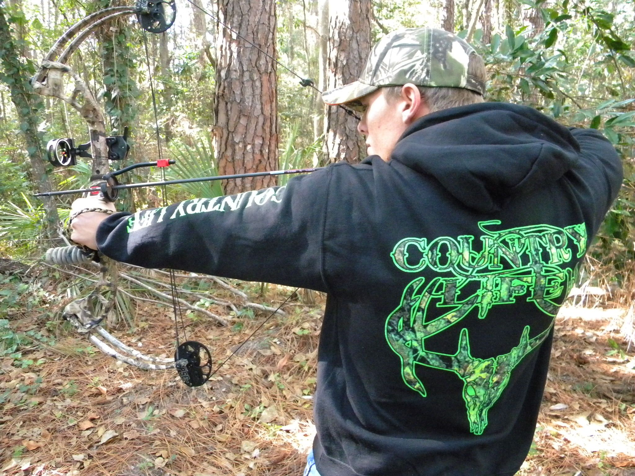 Hunting for a great hoodie? Order our popular Green Skull Hoodie from www.countrylifeoutfitters.com