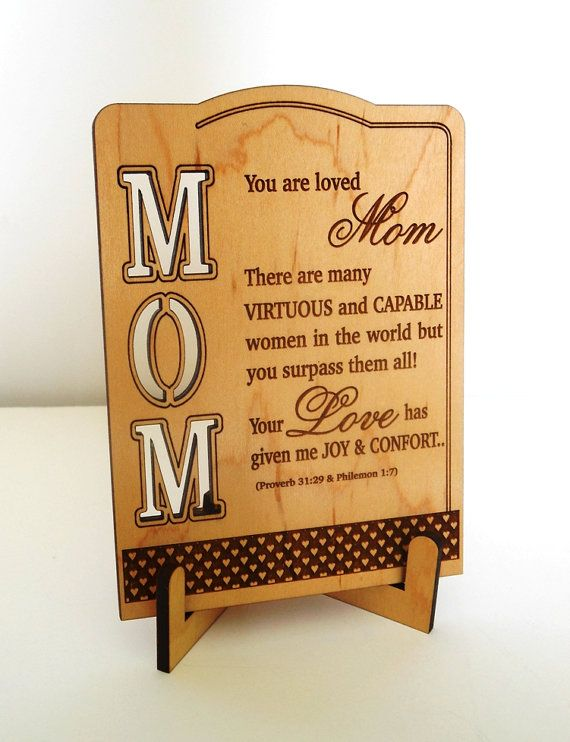 Mother S Day Gift Mom Reciation By Greatwoodengifts