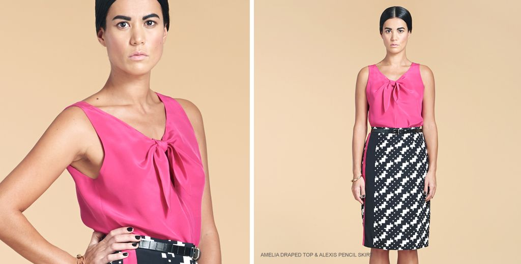 16a878ece4 Amelia draped top and Alexis pencil skirt from Lankka