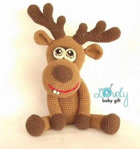 Christmas Deer Crochet Pattern, Amigurumi Toy, Toy, Reindeer, CP-134 ...