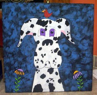 Great Dane Harlequin Painting I did a few years ago..
