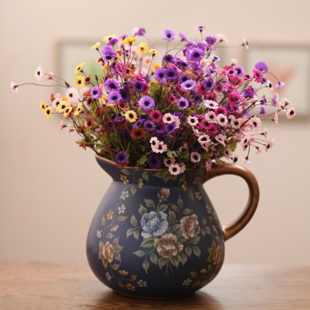 Fashion vintage blue ceramic hand painting big vase flower cool fashion vintage blue ceramic hand painting big vase flower cool reviewsmspy