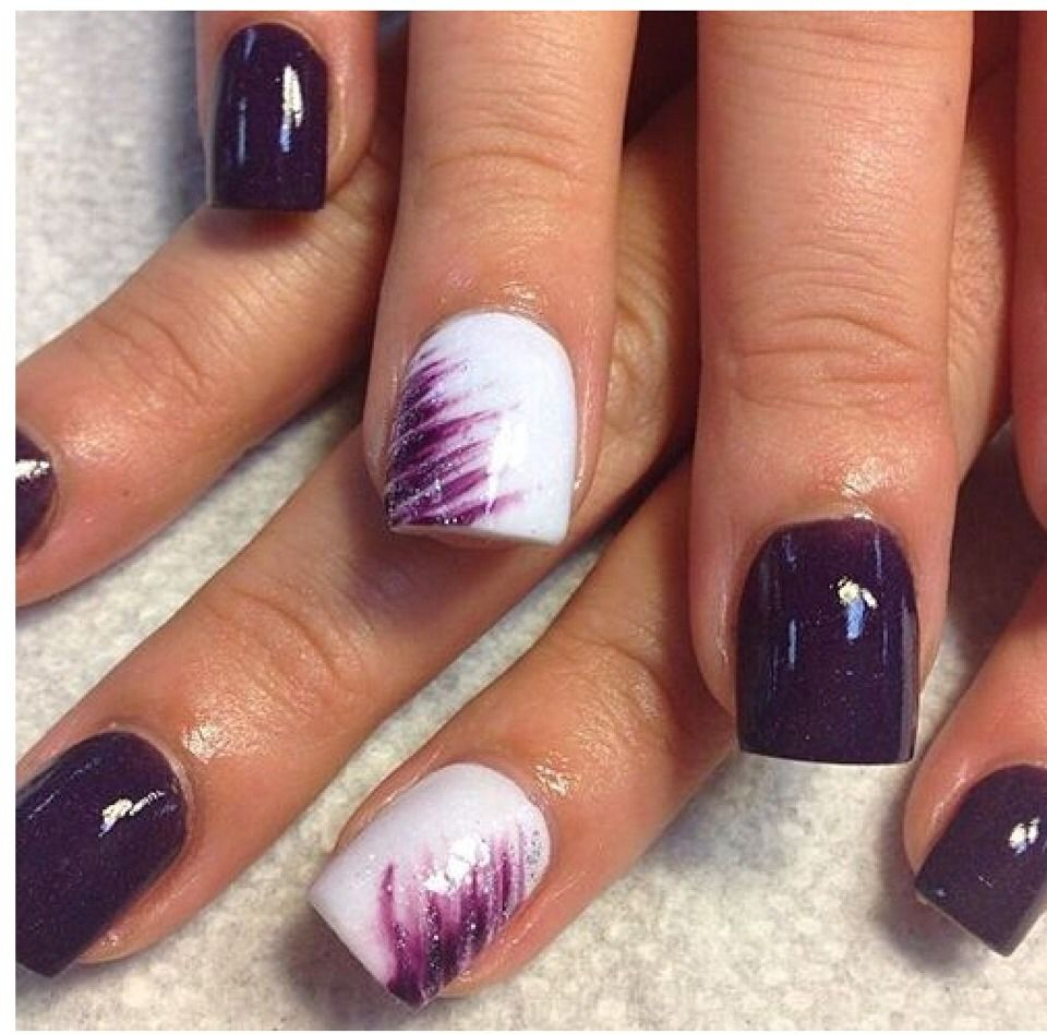 purple nail design | hairstyles | Pinterest | Purple nail designs ...
