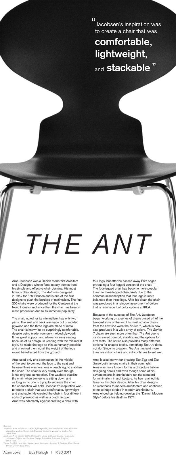 arne jacobsen 1902 71 the ant chair denmark. Black Bedroom Furniture Sets. Home Design Ideas