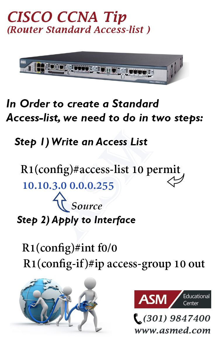 Cisco Ccna Tip Router Standard Access Listr More Information To