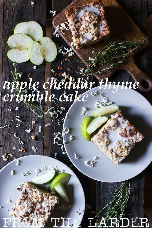 Apple Cheddar Thyme Crumble Cake (gluten-free)