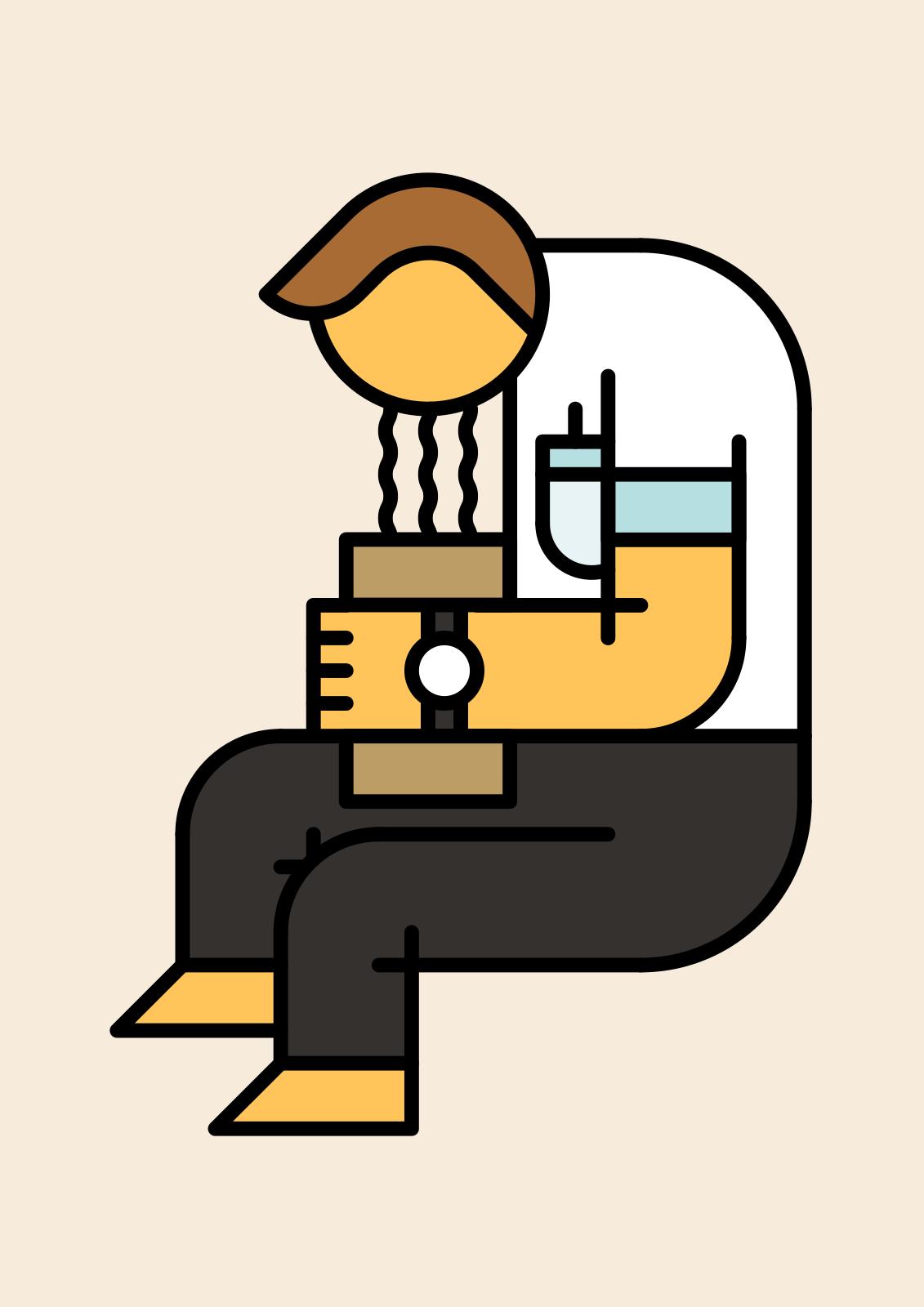 Hubert Tereszkiewicz #illustration #puke