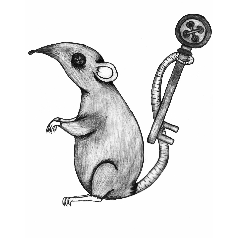Coraline Inspired Rat Illustration Coraline Drawing Coraline Book Coraline Cat