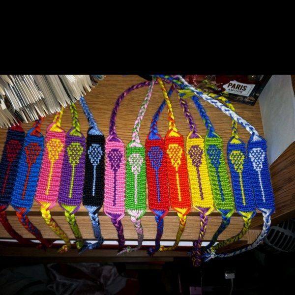 Lacrosse stick bracelets