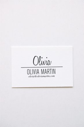 In haus press letterpress calling cards inspiration pinterest olivia letterpress calling cards set of 50 by inhauspress on etsy reheart Images
