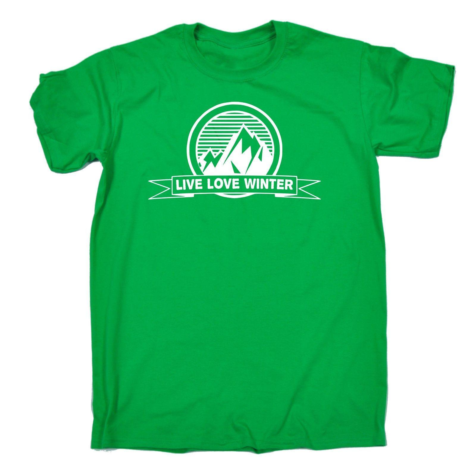 123t USA Men's Live Love Winter Funny T-Shirt