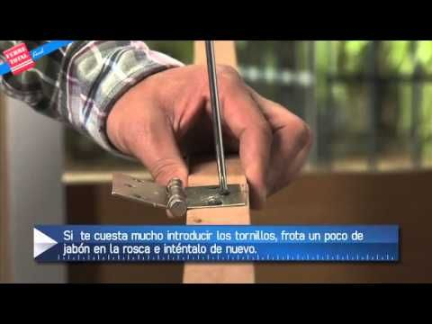 Ferretotal Como Instalar Bisagras En Un Mueble O Puerta Bisagras Muebles Puertas De Madera