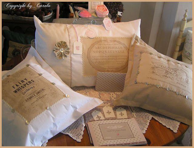 Boxwood Cottage: May basket swap & Vintage cushion swap & latest flea market finds