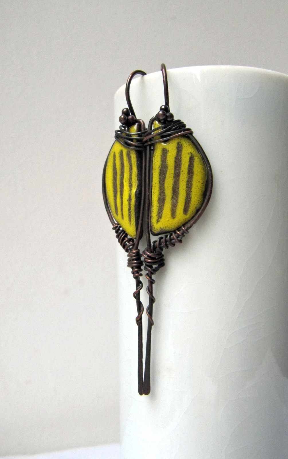 Earrings Everyday: Move The Faders | enamel | Pinterest
