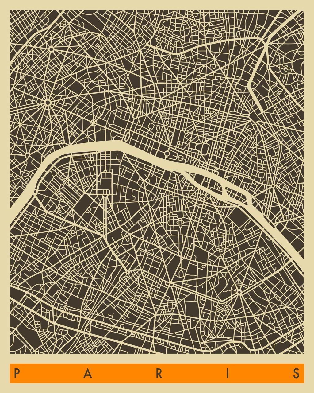 Paris Map By Jazzberry Blue Art Pinterest Map Paris Map And